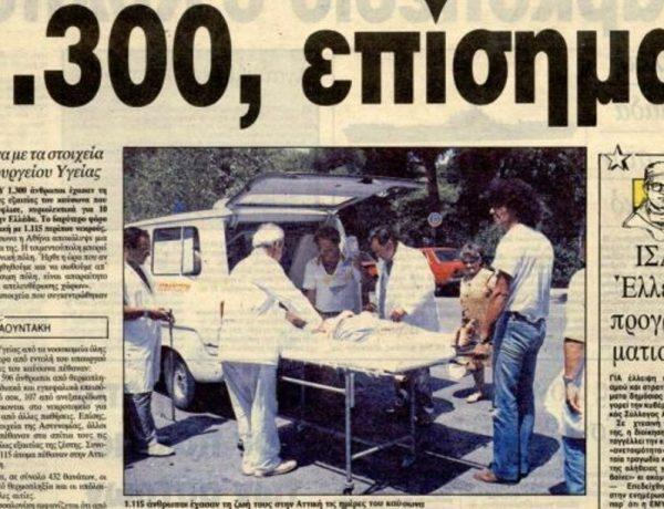 Ο φονικός καύσωνας του 1987 με τους 1.300 νεκρούς…